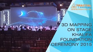 Khalifa Foundation Ceremony 2015 - 3D Mapping on Stage