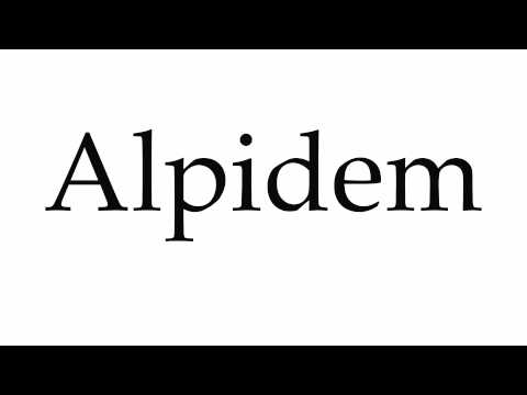 How to Pronounce Alpidem