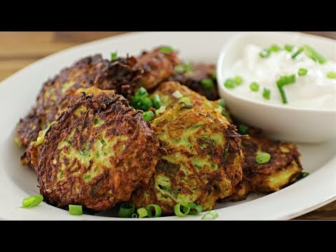 Zucchini Fritters Recipe | How to Make Zucchini Fritters