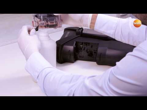 testo 350 Gas Analyser - Step 7 - How to Empty Condensate