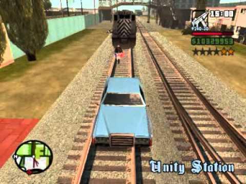 GTA San Andreas Special Movie: Cops vs. trains