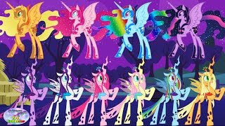 My Little Pony Transforms Mane 6 into Chrysalis Nightmare Moon Surprise Egg and Toy Collector SETC