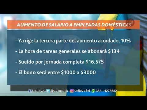 Ya rige la tercera parte del aumento a las empleadas domésticas