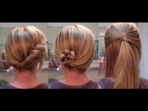 Easy Hairstyles for a date / work –  hairstyles for long hair / hairstyles for medium hair