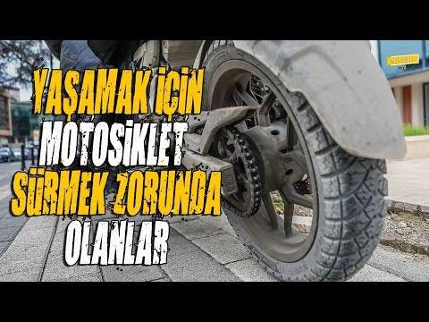 Hayatlarını Motosiklet Üzerinde Kazanan Motosikletli Kuryeler...