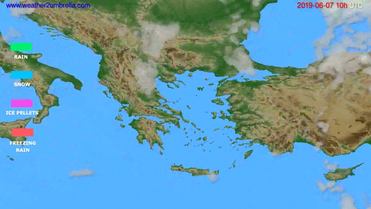 Precipitation forecast Greece // modelrun: 12h UTC 2019-06-04