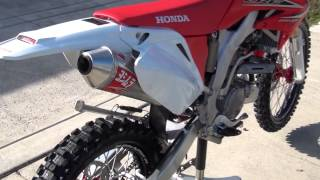 6. 2012 Honda CRF250X Yoshimura RS2 Slip on exhaust, JD Jet Kit, Airbox mod