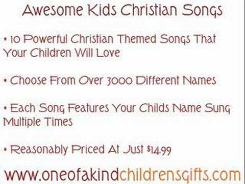 Awesome Kids Christian Songs - Personalized Music CD