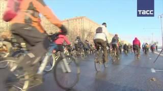 Велопарад в Москве прошел в – 28 0С