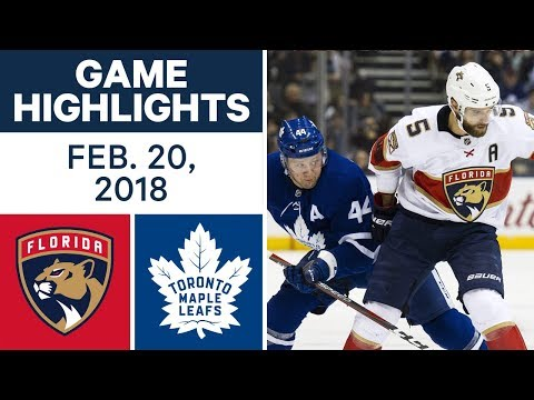 Video: NHL Game Highlights | Panthers vs. Maple Leafs - Feb. 20, 2018