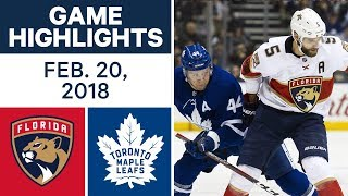 NHL Game Highlights | Panthers vs. Maple Leafs - Feb. 20, 2018 by Sportsnet Canada