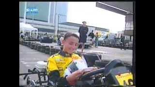 Młody Robert Kubica ściga się gokartem z amatorami – 1999 rok