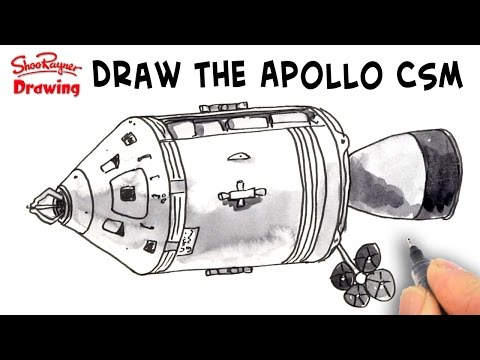 how to draw the apollo command module spacecraft shoo rayner author