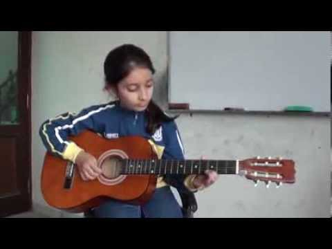 Neele neele ambar par acoustic guitar cover by Bhoomi