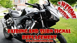 10. Honda CBR500R Fairing and Turn Signal Replacement