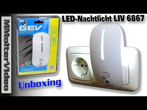 LED Nachtlicht LIV 6867 Unboxing und Test von MMolterVideo