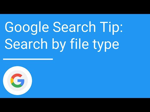 Google Search Tip: Search by file type