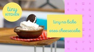Tiny Kitchen | Tiny No Bake Oreo Cheesecake by Tastemade