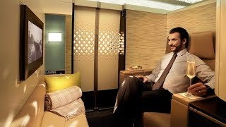 Video Etihad A380 First Class Apartment London to Abu Dhabi: MY BEST FLIGHT EVER! MP3, 3GP, MP4, WEBM, AVI, FLV Desember 2018