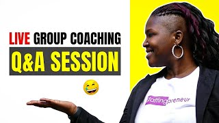 Staffingpreneurs Live Live Group Coaching Q&A Session - March 16, 2016
