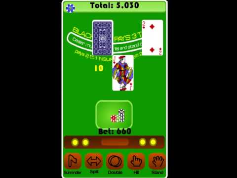 Video of BlackJack Casino Card Game