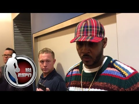 Video: Carmelo Anthony talks Thunder's loss to Celtics and Kyrie Irving| NBA on ESPN