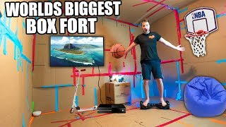 Today we build the worlds biggest box fort! In this video we build the biggest box fort and survive in it with a basketball court, nerf war a Segway & More! This funny box fort challenge vlog was hard! We had to build the worlds biggest box fort and survive 24 hours in it. luckily we had toys, nerf guns & more to survive!3:00 AM FLOATING BOX FORT CHALLENGEhttps://youtu.be/2ga_M382Z_s24 HOUR BOX FORT IN THE WOODS!https://youtu.be/9K3KkIFCvO8BOX FORT SUBMARINE CHALLENGEhttps://youtu.be/FEeh1oA-pF8WORLDS BIGGEST BOX FORT NERF WAR! 1v1 NERF BATTLE!https://youtu.be/pxfEL5qpuKwBOX FORT ZOO CHALLENGE!https://youtu.be/ArSG0Wnj828BOX FORT Vs VOLCANO CHALLENGE!https://youtu.be/mOyGEkgYNS8BOX FORT BOAT VS TSUNAMI CHALLENGE!https://youtu.be/yVUCcLQpFzYFLYING BOX FORT CHALLENGE! 📦 https://youtu.be/uylorgdebp4Get Awesome Papa Jake Merchandise! https://shop.bbtv.com/collections/team-epiphanySubscribe To My Gaming Channel - Papa Jake Games! https://www.youtube.com/watch?v=a01luoUVJ5cSubscribe To My Second Channel - Papa Jake Toyshttps://www.youtube.com/channel/UCmeNL9Nc2H1Mezu3gcb1hlAFOLLOW ME!!! LET'S BE FRIENDS:● Twitter - https://goo.gl/s1laJW● Facebook - https://goo.gl/sCnm8B● Instagram - https://goo.gl/x6H5Er● Snapchat - PapaJakeTE● Logan The Editor Instagram - https://goo.gl/842JeDCheck Out The Awesome Glowing 1000 degree KNIFE Videos:.com/watch?v=KiWNeqG_fp4MAIL ME STUFF :)119-660 Eglinton AVE.EAST SUITE 201 TORONTO, ON. M4G 2K2CanadaWARNING: This video is only for entertainment purposes. Do not attempt to recreate any of the acts in this video, as they may be dangerous if not done correctly, and could result in serious injury. If you rely on the information portrayed in this video, you assume the responsibility for the results. Have fun, but always think ahead, and remember that every project you try is at YOUR OWN RISK.