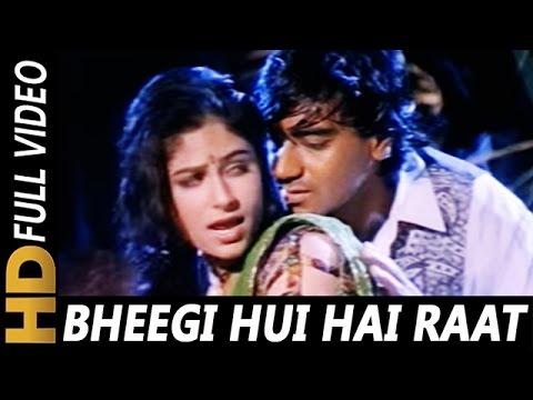 Video Bheegi Hui Hai Raat Magar | Kumar Sanu, Kavita Krishnamurthy | Sangram 1993 Rain Song | Ajay Devgan download in MP3, 3GP, MP4, WEBM, AVI, FLV January 2017