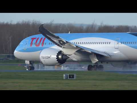 Manchester Airport Early Morning Landings Takeoffs 19th December 2018 19/12/18 HD 4K Plane Spotting