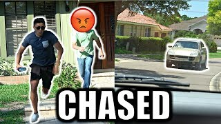 DING DONG DITCH AND PEE PRANK! *EPIC CAR CHASE* BTS