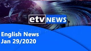 English News Jan 29/2020