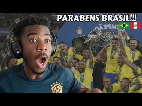 BRAZIL 3 X 1 PERU - Highlights And Goals (HD) Copa America Final 2019 | Reação