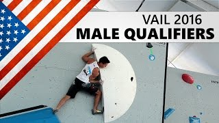 Vail Bouldering World Cup 2016 | Male Qualifiers by OnBouldering