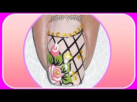 Diseños de uñas - Diseño de uñas Rosa y maya