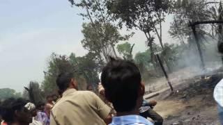सिगाही थाना मोती पुर में लगी भीषण आग  से सात आसियाना जल कर राख हो गये
