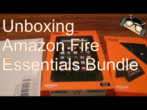 Unboxing: Amazon Kindle Fire 7 Tablet Essentials Bundle (5th Gen, 2015) [Manjoume]
