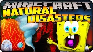 Minecraft Mods - EARTHQUAKES IN BIKINI BOTTOM MAP! - Natural Disasters Mod Showcase