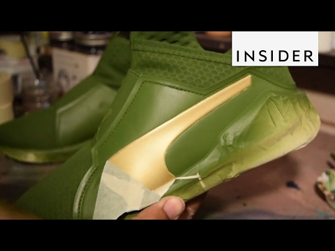Turning Sneakers Into Art
