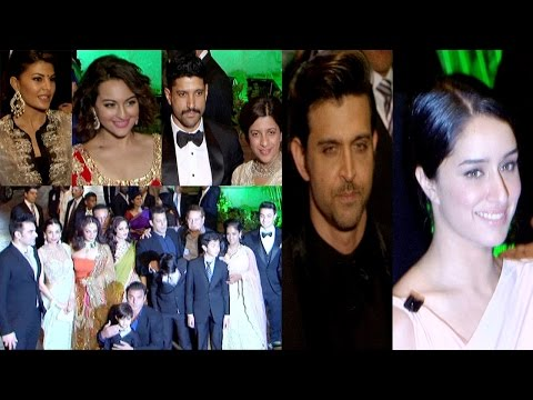 Hrithik, Jacqueline, Shraddha & Others At Wedding Reception Of Salman Khans Sister Arpita Khan