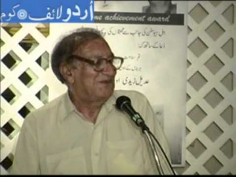 urdu poetry - Famous Urdu poet Ahmad Faraz visits Houston Texas in 2005 where Adeel Zaidi had arranged a evening with him. Ahmed Farz was presented an award and at the end...