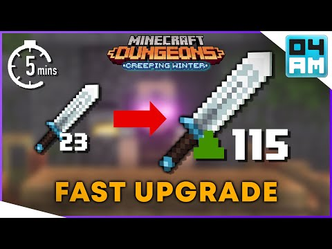 FASTEST WAY TO UPGRADE Gear & Blacksmith Explained in Minecraft Dungeons: Creeping Winter DLC