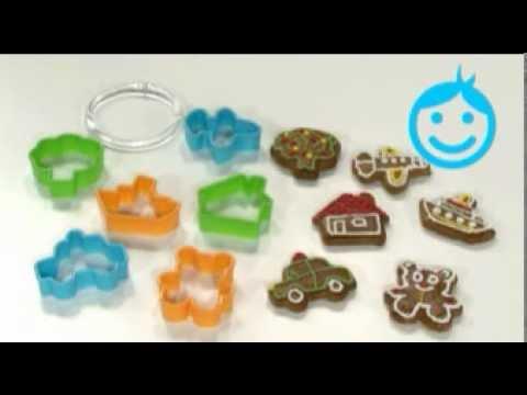 Видео Формочки для печенья из пластмассы  Формочки для мальчиков DELICIA KIDS, 6 штук Tescoma 630921