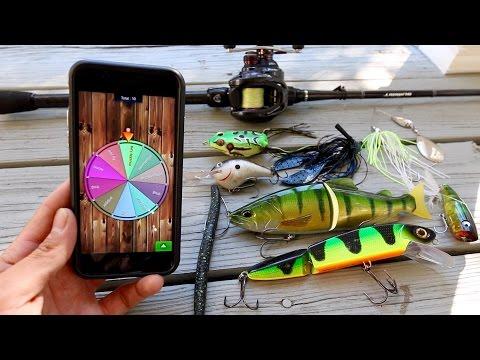 Video random lure fishing challenge ft jon b lunkerstv for Lunkerstv fishing rods