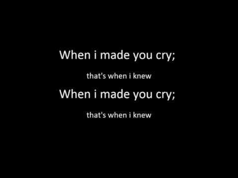 Tekst piosenki Patrick Stump - When I Made You Cry po polsku