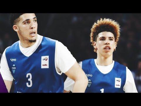 LaMelo & LiAngelo Ball Get NO Love from Lithuania Fans_Sport videók