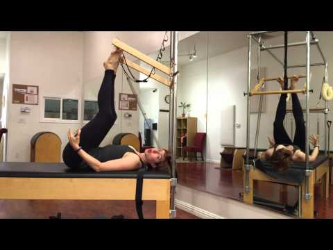 Footwork on the Cadillac - Lesley Logan Pilates