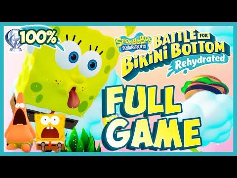 SpongeBob Battle for Bikini Bottom Rehydrated FULL GAME 100% Longplay (PS4) [Platinum Walkthrough]