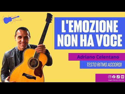 L'EMOZIONE NON HA VOCE - A. CELENTANO - DIVERTIAMOCI CON LA CHITARRA (видео)