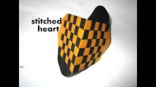 THIS VIDEO CONTAINS HOW TO MAKE STITCHED HEART. Please do like,share,comment and Don't Forget To...