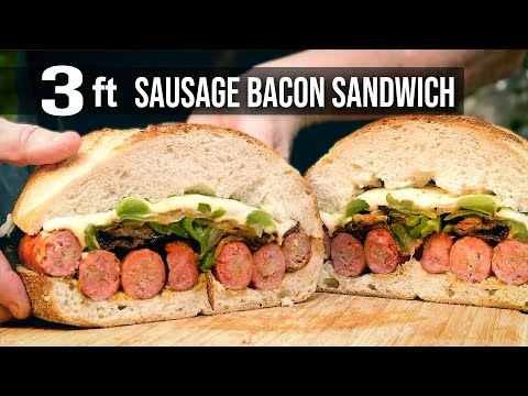 Sausage Sandwich by the BBQ Pit Boys
